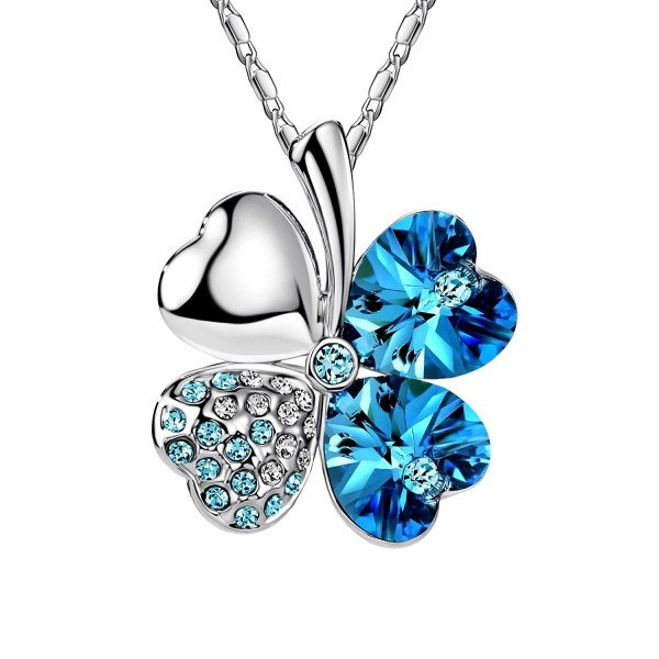 FANSING Costume Jewelry Mothers Necklaces - Ocean Blue - CL120XFUR0V
