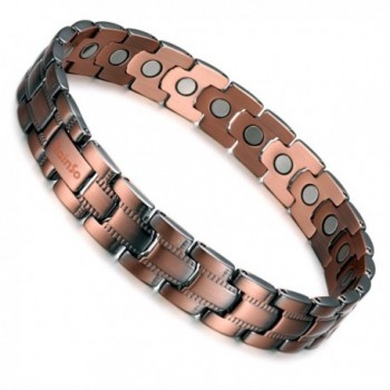 Rainso Womens Pure Copper Magnetic Therapy Health Bracelet Pain Relief for Arthritis Carpal Tunnel - CN189098GIE