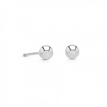 14k Gold Small Ball Stud Earrings with Secure and Comfortable Friction Backs- 3mm Diameter - C412EGQG0NB