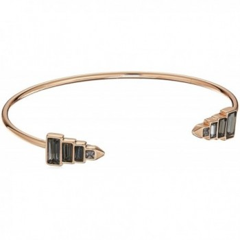 Rebecca Minkoff Stacked Baguette Cuff Bracelet - Rose Gold/Black - C51850RYTT9