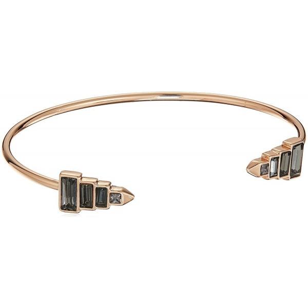 Rebecca Minkoff Stacked Baguette Cuff Bracelet - Rose Gold/Black - C51850RYTT9