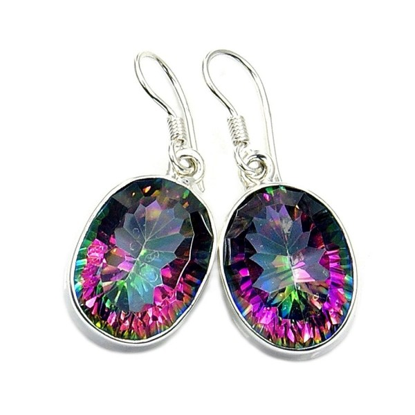 Shimmering Lights Sterling Silver Mystic Topaz Dangle Earrings - CM11EPZZSGT