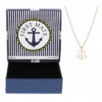 Jewelry Gold Tone Gift Anniversary Girlfriend - Rose Gold-Tone Anchor - CP12N60PU15