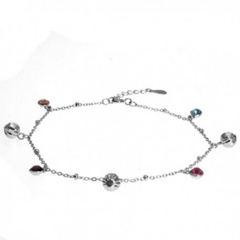 Silver Masters Sterling Singapore Chain Anklet in Women's Anklets