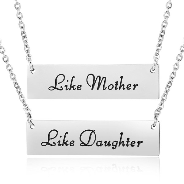ELOI Like Mother Like Daughter Necklace Bar Jewelry Sets Pendant Christmas Mother's Day Gift for Mom - C0186S7EOOW