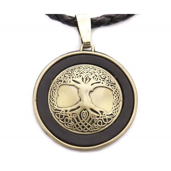 Tree of Life Necklace- Leather- Adjustable - C911DJBQWFL