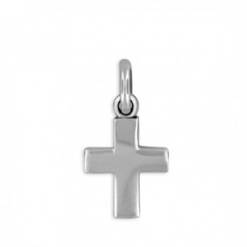 Sterling Silver Mini Cross Charm Pendant - CX1188GM2RT