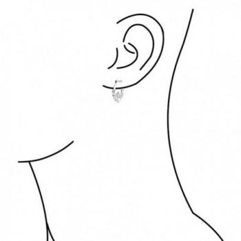Silver Polished Claddagh Heart Earring in Women's Hoop Earrings
