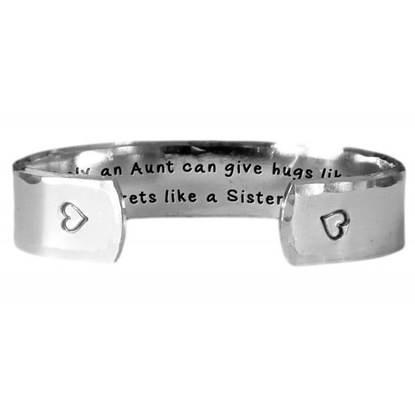 Hand Stamped Bracelet Textured Aluminum - CA11VUHT2A7