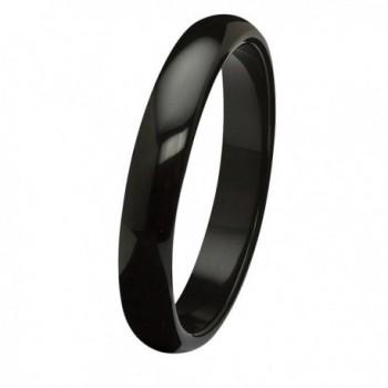 "Genuine Black Agate Bangle Bracelet (13mm)- 9"" - CA11Q7S4MYL"