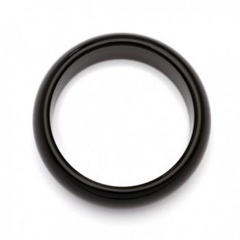 Genuine Black Agate Bangle Bracelet