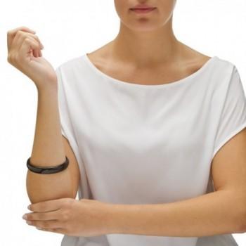 Genuine Black Agate Bangle Bracelet in Women's Bangle Bracelets