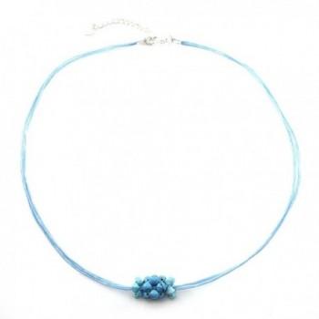 Turquoise Swarovski Necklace Handmade JA 0118N - CG11G4XNMQN