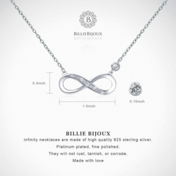 925 Sterling Silver Necklace Infinity