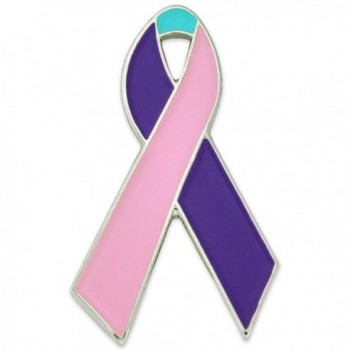 PinMart's Thyroid Cancer Awareness Ribbon Enamel Lapel Pin - CY11LJWSE7B