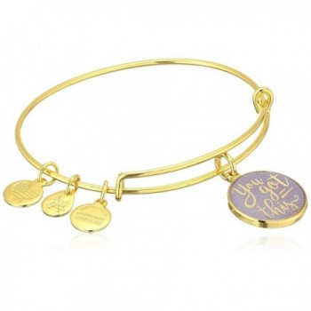 Alex and Ani Words are Powerful- EWB Bangle Bracelet - Shiny Gold - C312NA9N458