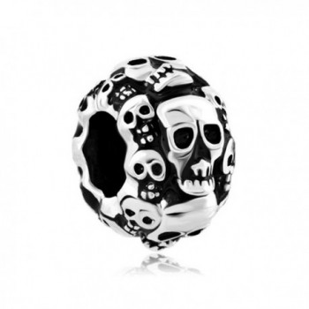CharmsStory Skull Halloween Skeleton Spacer Charm Beads Charmss For Bracelets - CI11VIG681R