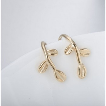 S Leaf Earrings Sterling Silver plated
