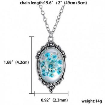 PMTIER Vintage Pressed Gemstone Necklace