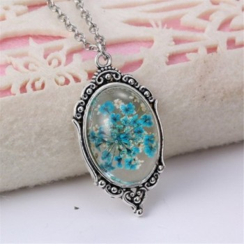 PMTIER Vintage Pressed Gemstone Necklace in Women's Pendants