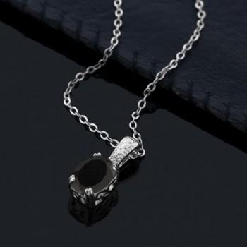 Black Diamond Sterling Silver Pendant