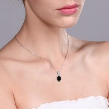 Black Diamond Sterling Silver Pendant in Women's Pendants