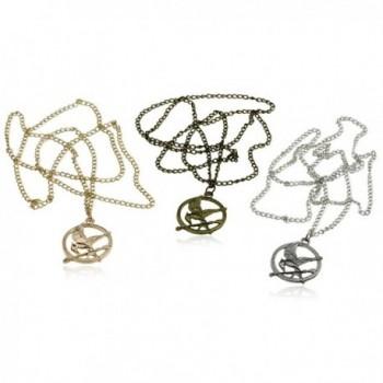 Mocking Pendant Bronze Sweater Necklace in Women's Pendants