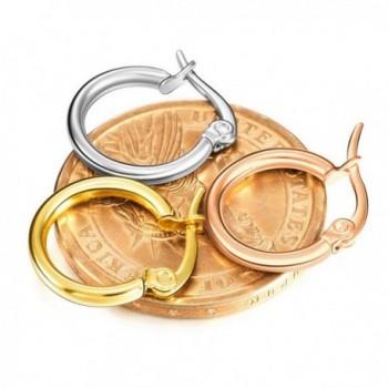 MOWOM Silver 15 50mm Stainless Earrings in Women's Hoop Earrings