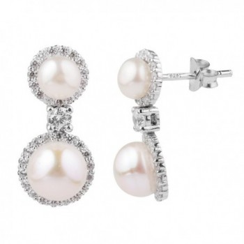 Sterling Silver Zirconia Simulated Earrings