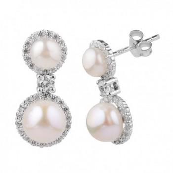 Sterling Silver Zirconia Simulated Earrings in Women's Stud Earrings