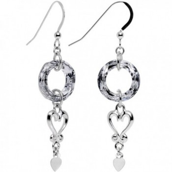 Body Candy Handcrafted 925 Sterling Silver Wreath of Heart Earrings Created with Swarovski Crystals - CC12FWSYQRT