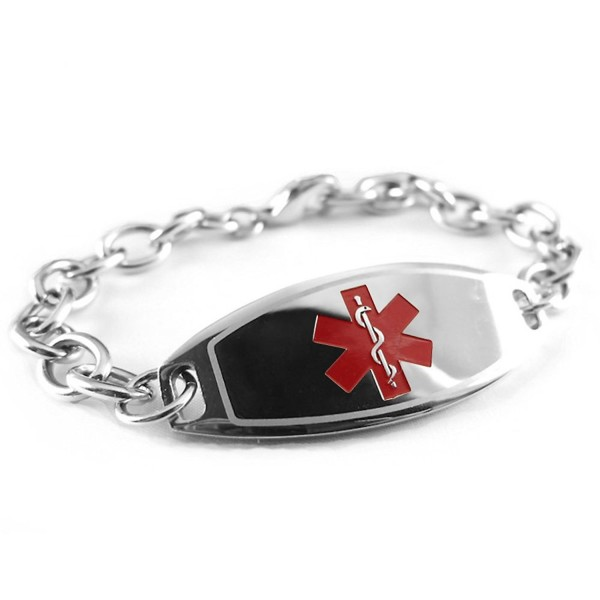 MyIDDr - Pre-Engraved & Customized Dementia Medical ID Bracelet- Wallet Card Incld - C711CMULNTP