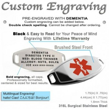 MyIDDr Pre Engraved Customized Dementia Bracelet