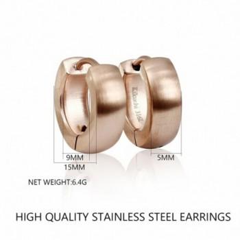 Bonnie Womens Stainless Huggie Earrings