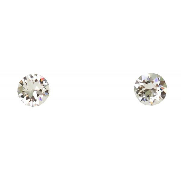 Designs by Nathan 6.3mm Round Xirius Crystal Stud Surgical Steel Earrings Clear Crystals from Swarovski - CM12BZEY971