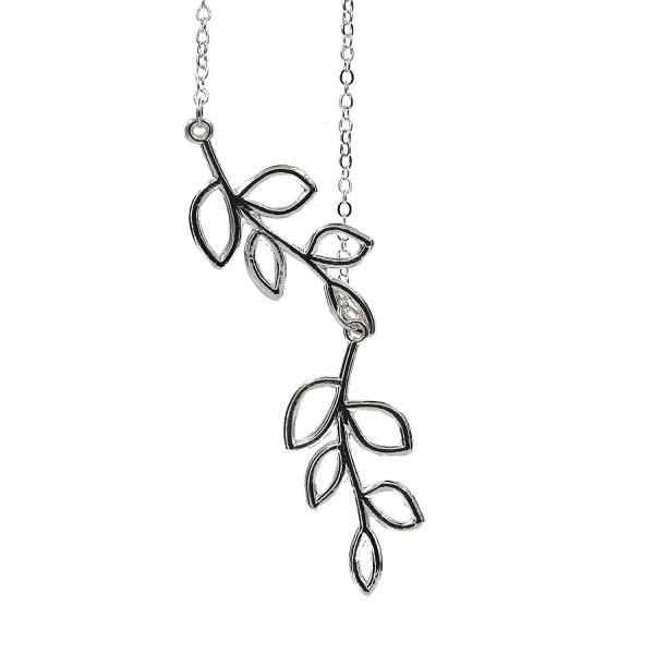 CHOP MALL Classic Hollow Out Leaf Leaves Branch Shape Pendant Necklace(1 Pc) - CQ11SFPK2QB