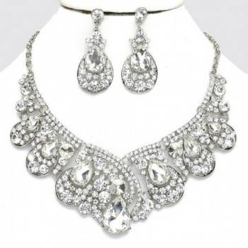 Affordable Crystal Statement Necklace Earrings