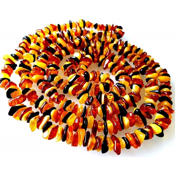 47 inches (120cm) Length Natural Baltic Amber Necklace / Multicolour Beads / Certified Genuine Baltic Amber - CI12JGMSTHP