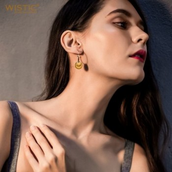 Wistic Earrings Round Dangle Yellow