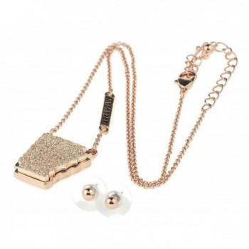 Arkansas Pendant Necklace Earrings Gold Tone in Women's Jewelry Sets