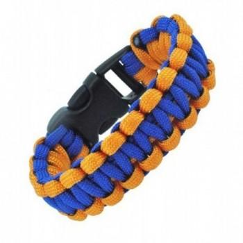 Orange and Blue Survival Bracelet - Paracord Bracelet- Para-cord Bracelet- 8 Inches - CE11D0OP1SV