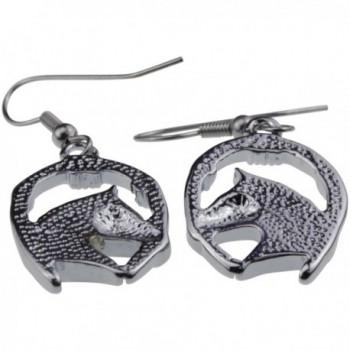 Silver Abalone Horseshoe Earrings Jewelry in Women's Stud Earrings