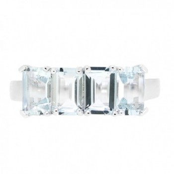 Sterling Silver Emerald Natural Aquamarine