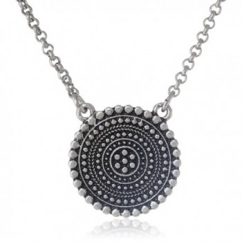 Lucky Brand Womens Indigo Trail Tribal Pendant Necklace - Silver - CC11GM96P0T