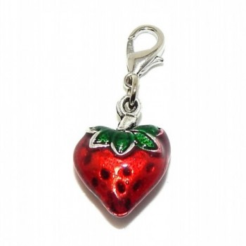 "Pro Jewelry Clip-on ""Red Strawberry"" Charm Dangling - C111LZXWUS3"