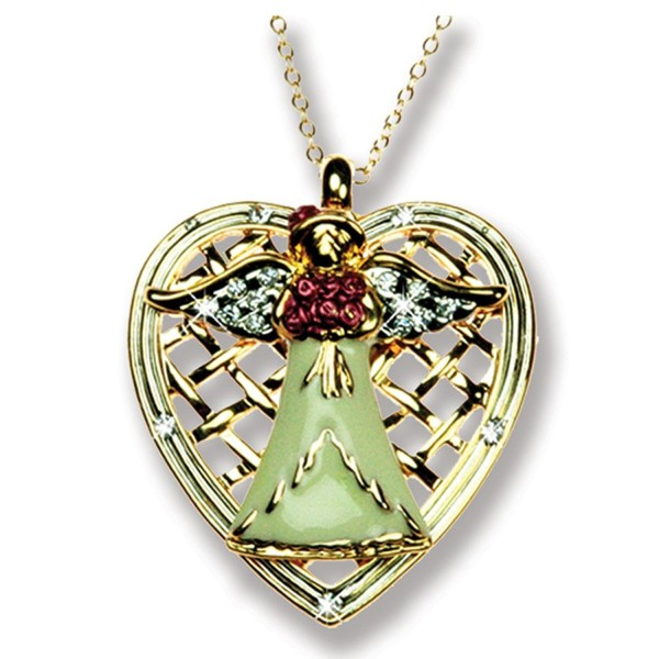 Mother Angel Necklace Crystal Accents - CY114J86W17