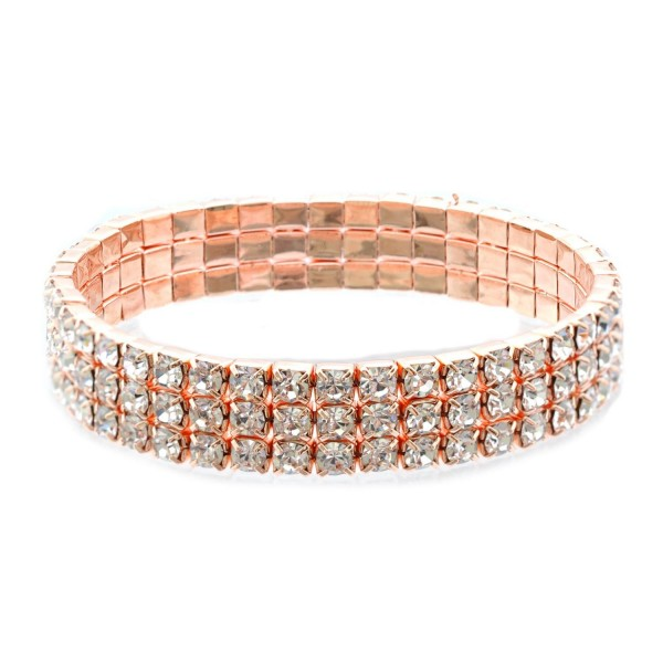 Topwholesalejewl Wedding Bracelet Rose Gold Plating Stretch Bracelet - C618639TLXS