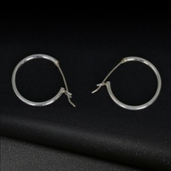 Sterling Earrings Hypoallergenic Accessory Silver 0 7in in Women's Hoop Earrings