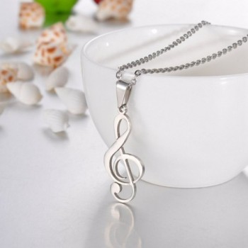 VALYRIA Stainless Musical Pendant Necklace in Women's Pendants