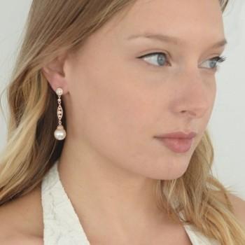 Mariell Vintage Simulated Earrings Filigree